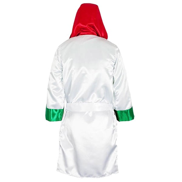 Cleto Reyes Satin Boxing Robe with Hood Mexican Flag