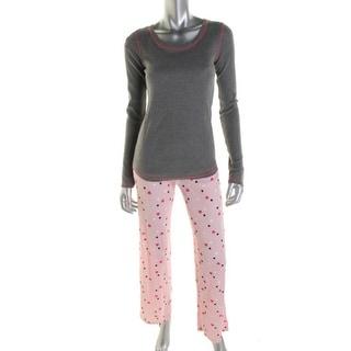 Jenni Womens Two-Piece Pajamas Thermal Graphic - XS