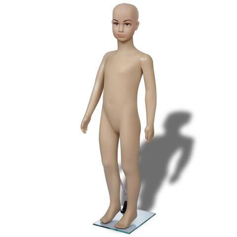 vidaXL Mannequin Child A Full Body w/ Base Realistic Display Head Turn Form