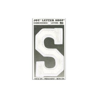 "Joy Applique Letter Iron On Varsity 3"" White S"