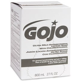 Go-Jo 9212-12 Ultra Mild Antimicrobial Lotion Soap Refill, 800 ml