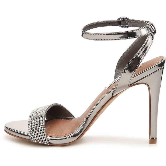 Steve Madden Womens Ritter Fabric Open Toe Special Occasion Ankle Strap Sandals