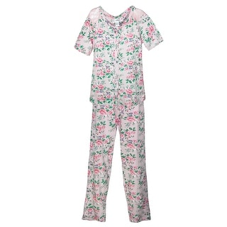 Sag Harbor Women's Cottage Rose Short Sleeve Pajama Set