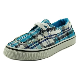 Dawgs Youth Caymans Boat Youth Moc Toe Synthetic Blue Boat Shoe