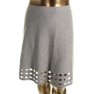 Elie Tahari Womens Posey Merino Wool Sweater Knit A-Line Skirt
