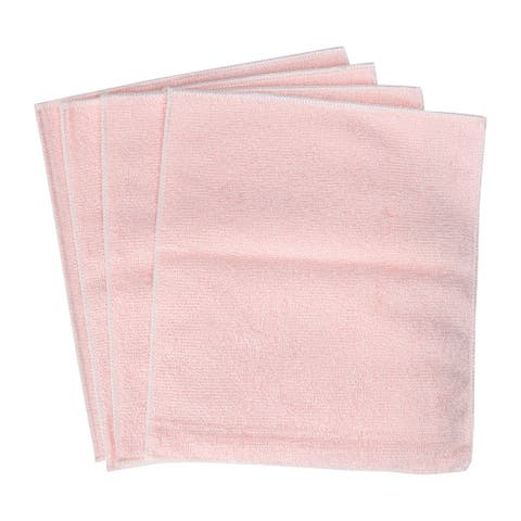"Cleaning Cloth Towels 4pcs, 9"" x 7.1"" Highly Absorbent Kitchen Dish Cloths Pink - 9"" x 7.1"""