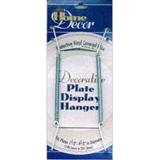 "White - Decorative Plate Display Hanger Expandable 7.5"" To 9.5"""