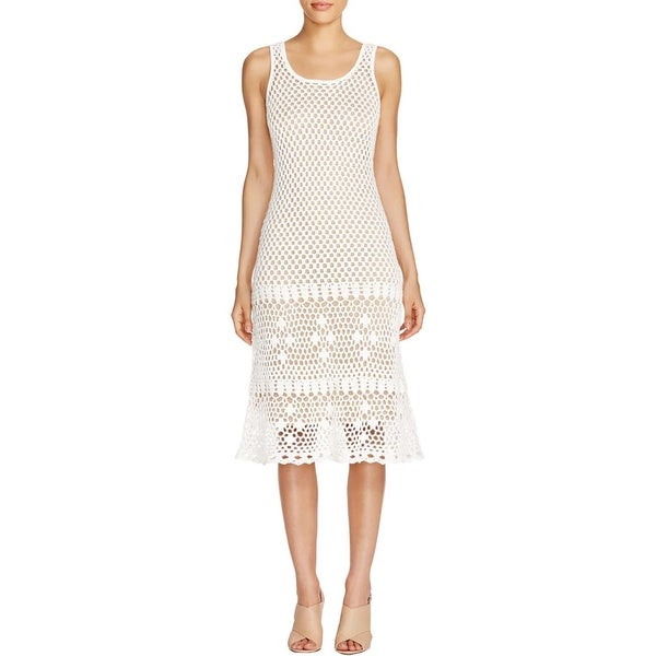 MICHAEL Michael Kors Womens Sweaterdress Crochet Kint
