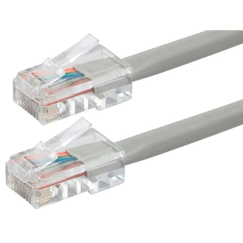 Monoprice Cat6 Ethernet Patch Cable - 2 Feet - Gray, RJ45, 550Mhz, UTP, 24AWG