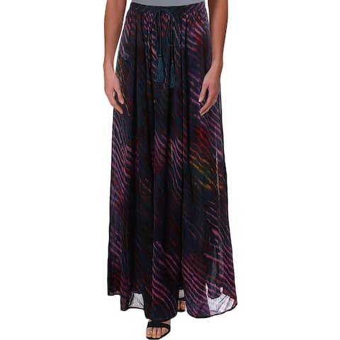 Free People Womens True To You Maxi Skirt Printed Long