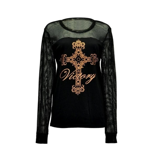 969fa0a1 Shop Cowgirl Tuff Western Shirt Womens Cross Long Sleeve Foil Black - Free  Shipping Today - Overstock - 18521363