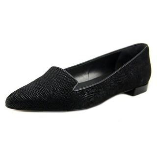Stuart Weitzman Piperialto Women Pointed Toe Leather Black Flats
