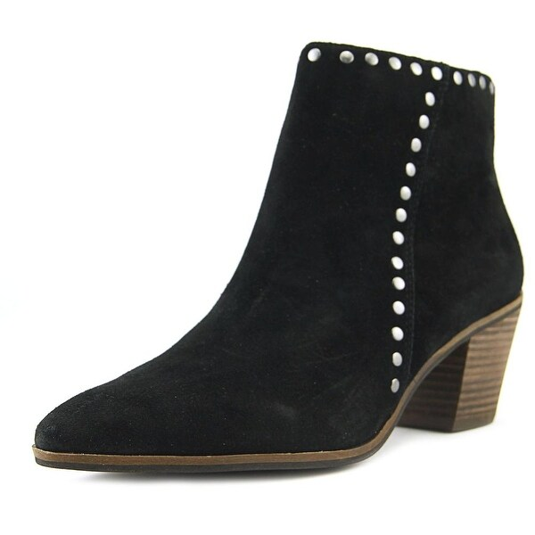 Lucky Brand Linnea Women Pointed Toe Suede Black Bootie