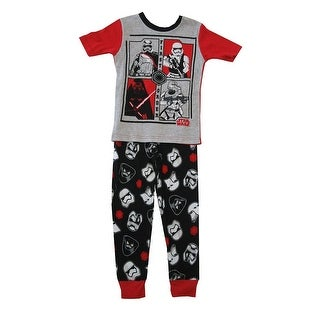 Star Wars Boys Gray Black Short Sleeve 2 Pc Pajama Set