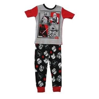 Star Wars Little Boys Gray Black Short Sleeve 2 Pc Pajama Set