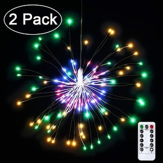 Battery Powered Waterproof Dimmable Fairy Decorative Light with Remote, 120 LED String Lights for Holiday Decorative (2 pack)