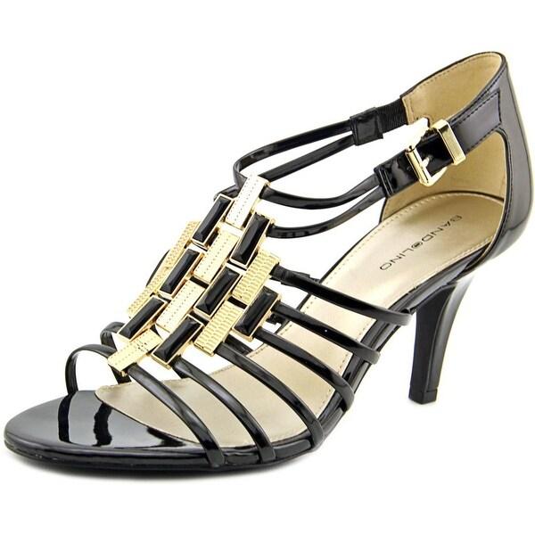 Bandolino Magei Women Open-Toe Synthetic Black Heels