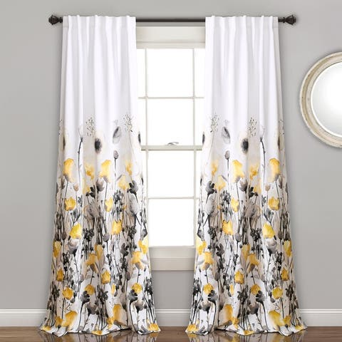 The Curated Nomad Luminet Flora Room Darkening Window Curtain Panel Pair