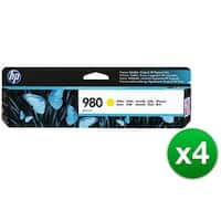 HP 980 Yellow Original Ink Cartridge (D8J09A)(4-Pack)