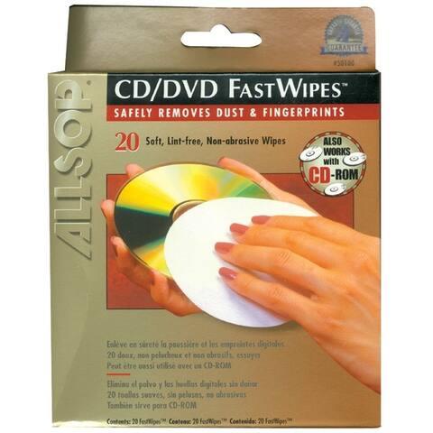 Allsop 50100 Cd Fastwipes(Tm), 20 Pk