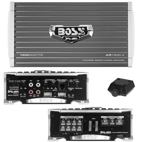 Boss Armor 4CH Amplifier 1600W Max