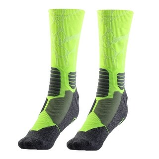 Outdoor Activities Soccer Exercise Sports Hiking Socks Fluorescent Green Pair