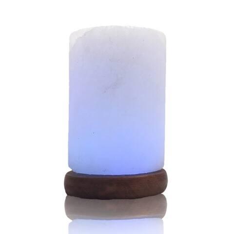 Himalayan Salt Cylinder USB Lamp - Multi-Color