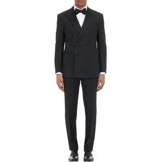 Ralph Lauren Black Linen Tuxedo 38 Regular 38R Pants 31W Made In Italy