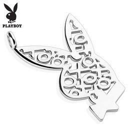 Playboy Logo XOXO 316L Surgical Steel Bunny Pendant (28 mm Width)