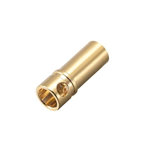 2 Pcs 3.5mm Gold Plated Female Bullets Connectors Banana Plugs (2 Female) #0158 - 3.5mm Female 2pcs