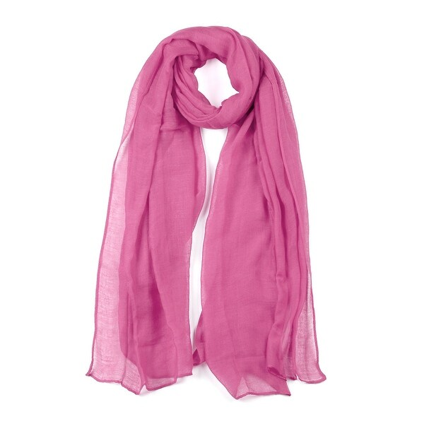 Long Warm Shawl Large Soft Solid Color Scarf for Women Men Pink