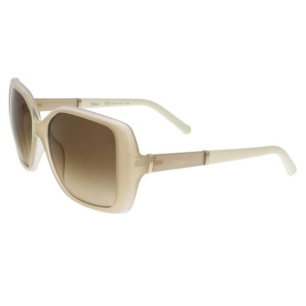 Chloe CE680/S 273 Light Turtledove Square Sunglasses - light turtledove - 58-15-135