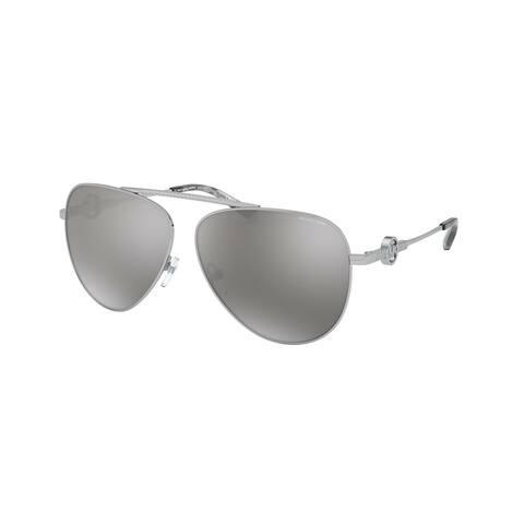 Michael Kors MK1066B 10146G 59 Silver Woman Pilot Sunglasses
