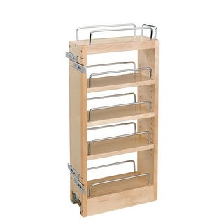 """Rev-A-Shelf 448-HP-523C 448-WC Series 5"""" Hood Pull Out Organizer with Adjustable Shelves - Natural"""