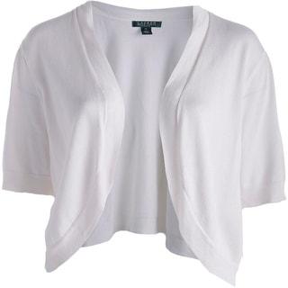 Lauren Ralph Lauren Womens Cardigan Sweater Open Front Short Sleeves - 1x