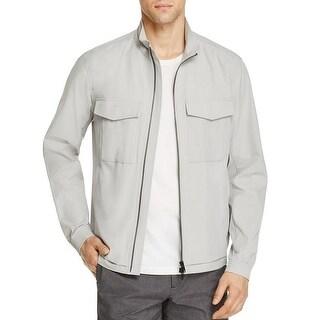 Theory Men's Terrial Bevan Light Gray Lightweight Jacket M