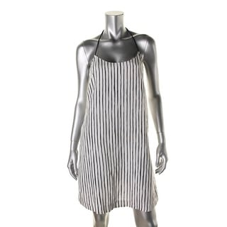 Tory Burch Womens Linen Striped Dress Swim Cover-Up