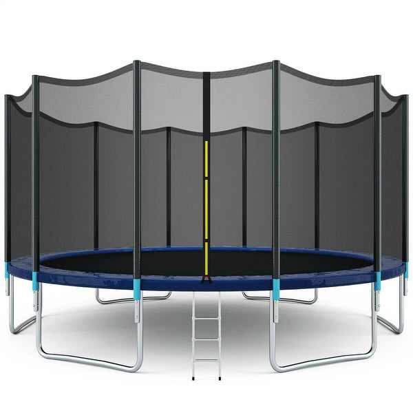 Gymax 16FT Trampoline Combo Bounce Jump Safety Enclosure Net. Opens flyout.