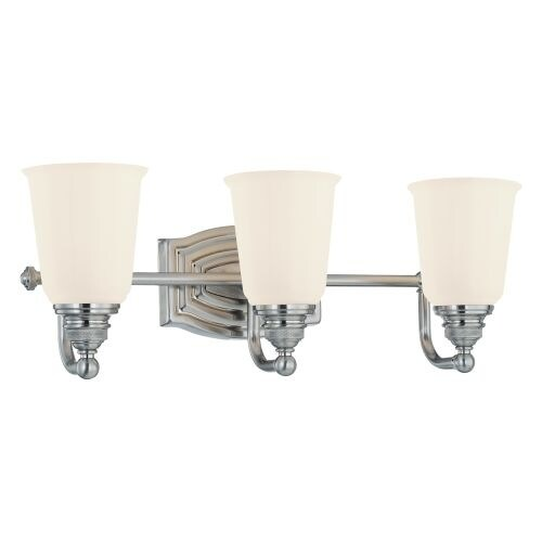 Minka Lavery 6453 3 Light Bathroom Vanity Light From The Clairemont  Collection   Brushed Nickel