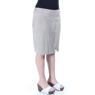 $598 RALPH LAUREN New Womens 1230 Gray Mini A-Line Skirt 10 B+B