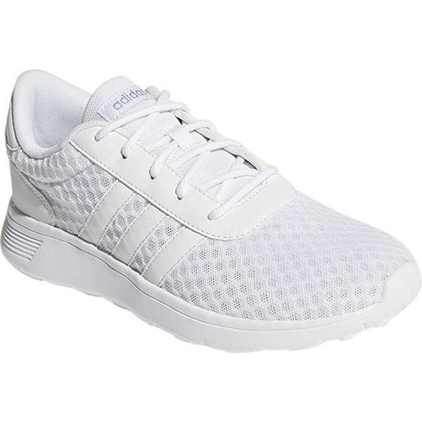 adidas Women's NEO Lite Racer Sneaker FTWR White/FTWR White/Matte Silver