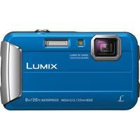 Panasonic LUMIX Active Lifestyle Tough Digital Camera (Blue) & Swiss Gear Case