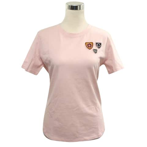 Maje Women's Rose Cotton Crest Embroidered T-Shirt 3 H17THEODORA (3)