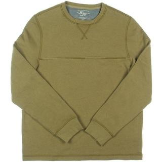 Bass Mens Fleece Long Sleeves Crew Sweatshirt