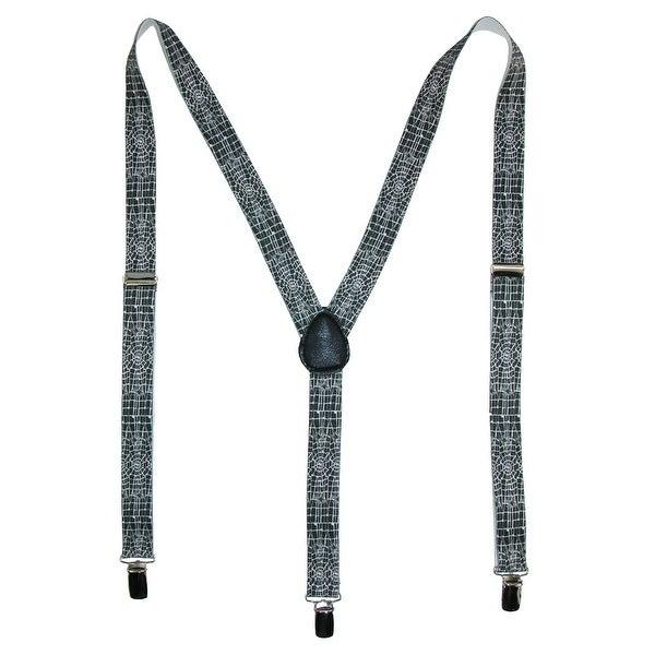 Parquet Elastic Novelty Spider Web Print Suspenders