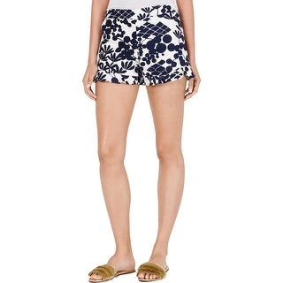 Link to Trina Turk Womens Rocklin Shorts Floral Ruffled - Ink - 2 Similar Items in Dresses