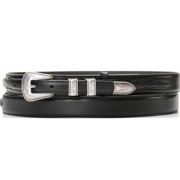 Nocona Western Belt Mens Leather Smooth Ranger Black