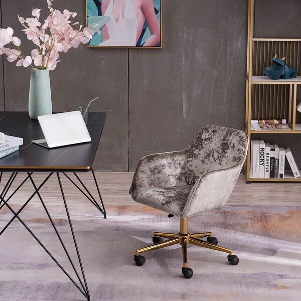 Grey Crush Velvet Home Office Chair. Opens flyout.