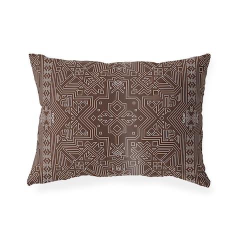 SULTANATE CHOCOLATE Lumbar Pillow By Kavka Designs