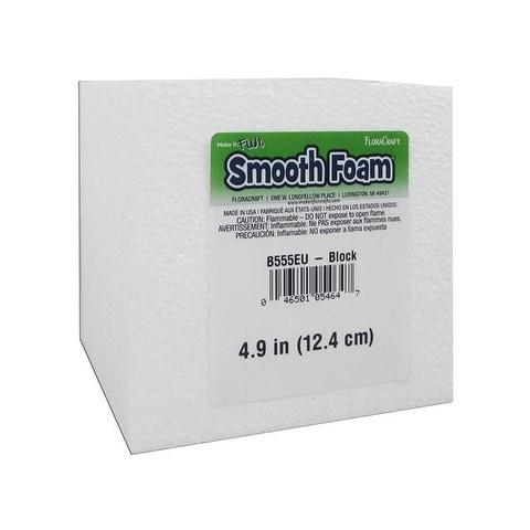 "Floracraft Smooth Foam Block 5x5x5"""